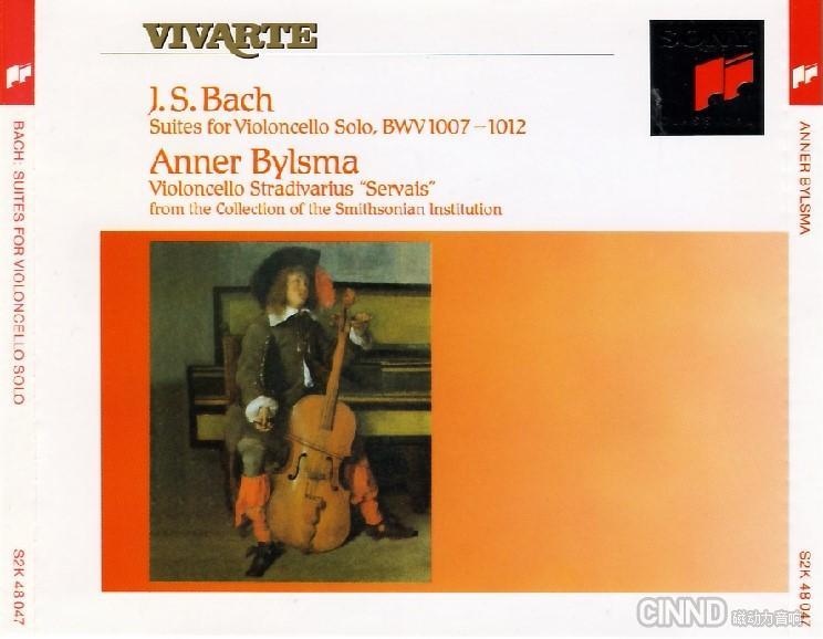 Anner Bylsma -《巴赫无伴奏大提琴组曲》(Bach Suites for Violoncello Solo)